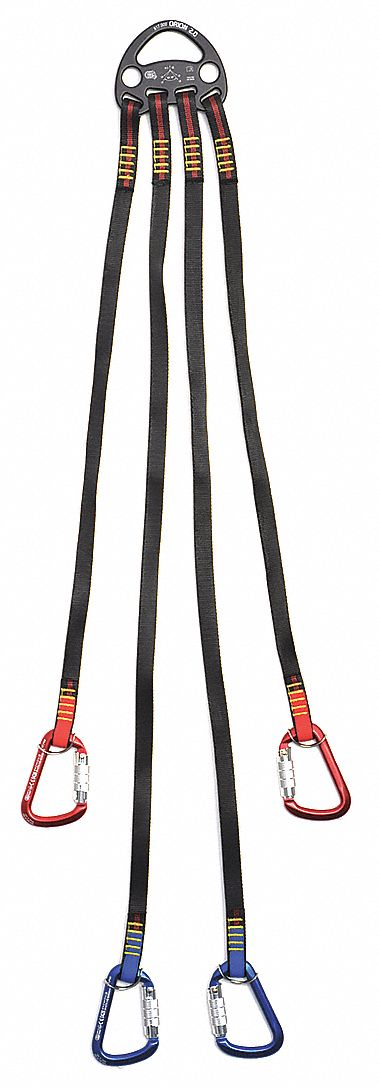 Lifting Bridle,  Black,  44 3/4 in Length,  5 in Width,  Nylon Webbing