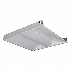 Recessed Troffer, LED Replacement For 2 Lamp T8, 3000K, Lumens 2000, Fixture Rated Life 50,000 hr.