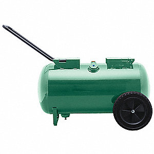 Steel Air Tank, Green Powder Coated