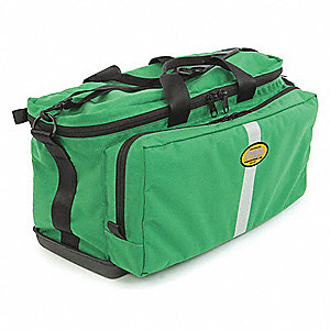 "Trauma/Oxygen Bag,Green,22"" L"