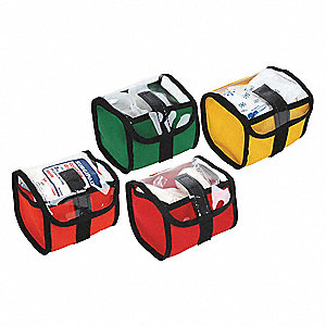 "Storage Kit,Green/Yellow/Red/Blue,5""L"