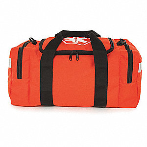 "First Responder Bag,Orange,11"" L"