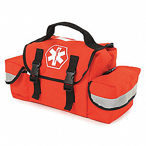 "Trauma Bag, Orange, 7"" L"