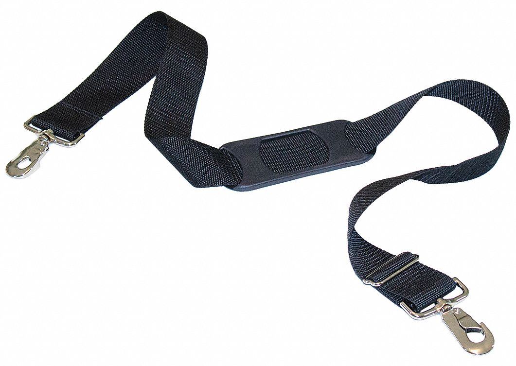 Shoulder Strap,  36 in Length,  1 1/2 in Width,  1 in Height,  Snap Closure Type