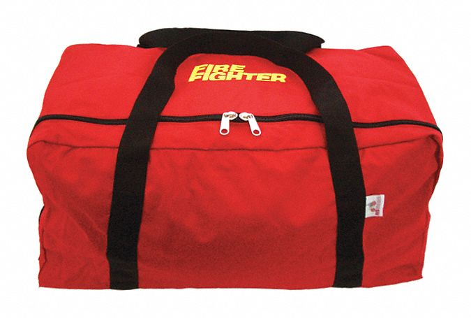Red Gear Bag,  1000D Cordura(R), Nylon,  Includes Handle, Fire Fighter Wording