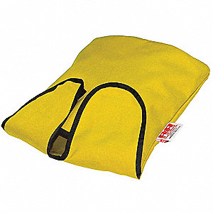 "Air Mask and Regulator Bag, Yellow, 4"" L"