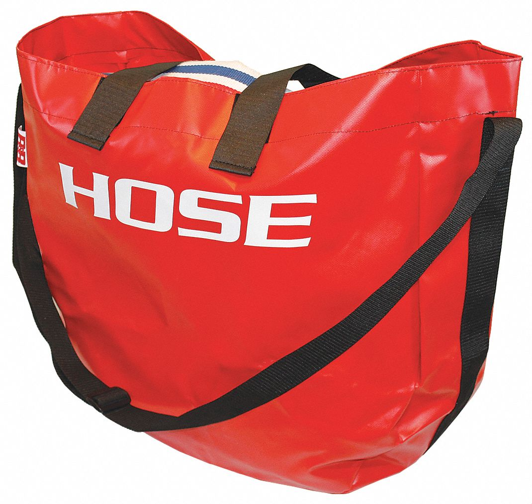 Storage Bag,  3 in,  Nylon,  Red,  For Use With Fire Hose
