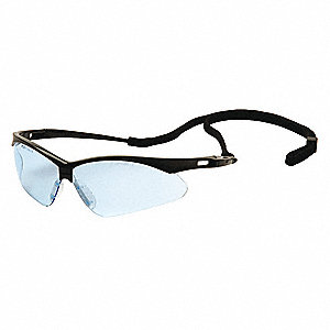Agitator Scratch-Resistant Safety Glasses, Infinity Blue Lens Color