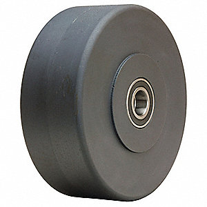 "10"" Caster Wheel, 8000 lb. Load Rating, Wheel Width 2-1/2"", Fits Axle Dia. 3/4"""
