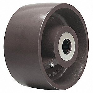 "6"" Caster Wheel, 6000 lb. Load Rating, Wheel Width 3"", Fits Axle Dia. 1-1/4"""