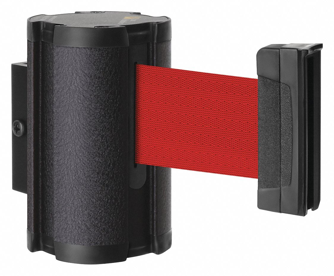 Retractable Belt Barrier, Red, None