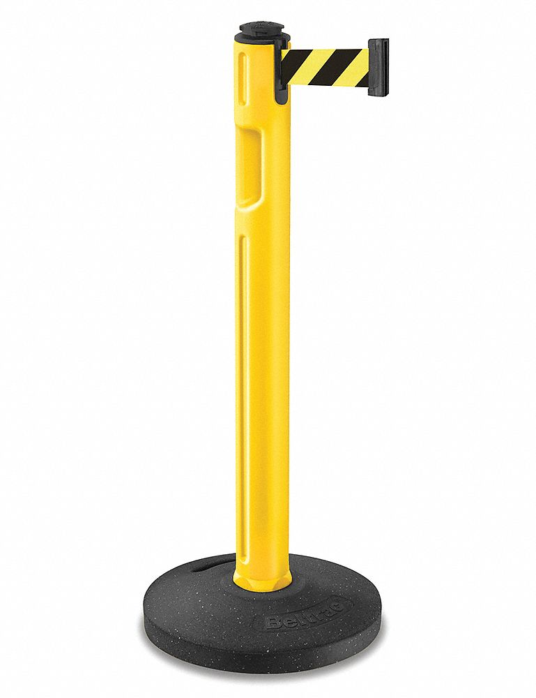 "Barrier Post, 38-1/4"" H, Yellow"