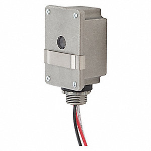 "Photocontrol, 120VAC Voltage, 3000 Max. Wattage, Fixed, 1/2"" Conduit, Flush Mounting"