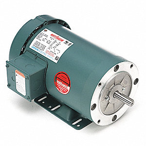 3 HP General Purpose Motor,3-Phase,3490 Nameplate RPM,Voltage 230/460,Frame 56HC