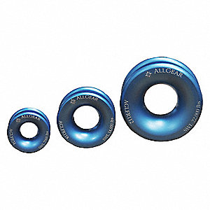 "4"" Extra Strong Aluminum Ring with 22,000 lb. Holding Capacity, Blue"