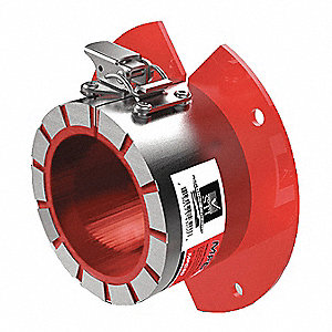 Marine Pipe Collar, Metal Pipe, Plastic Pipe Application, Up to 30 min Fire Rating, Silver