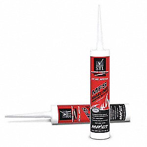 Marine Firestop Sealant, 9.5 oz. Tube, Up to 1 hr. Fire Rating, Red