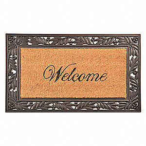 "Door Mat,Black,18"" x 2ft. 6"""