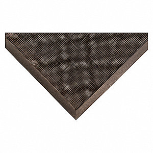 "Outdoor Entrance Mat, 32"" L, 24"" W, 3/8"" Thick, Rectangle, Black"