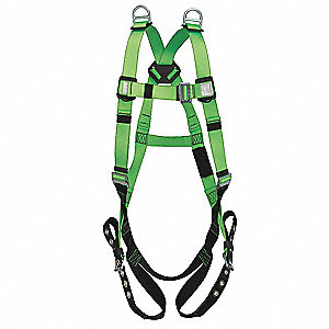 Contractor Full Body Harness with 310 lb. Weight Capacity, Green, Universal