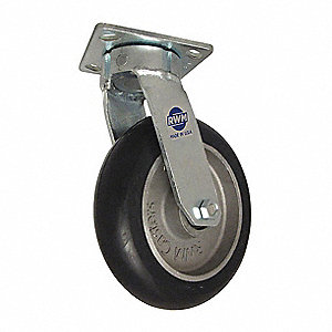 "8"" Medium-Duty Swivel Plate Caster, 1500 lb. Load Rating"