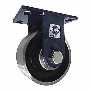 "8"" Heavy-Duty Rigid Plate Caster, 4500 lb. Load Rating"