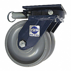 "6"" Heavy-Duty Swivel Plate Caster, 3000 lb. Load Rating"
