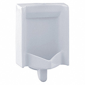 "Washout Wall Hung Urinal, 0.1 Gallons per Flush, 26""H x 16""W, White"