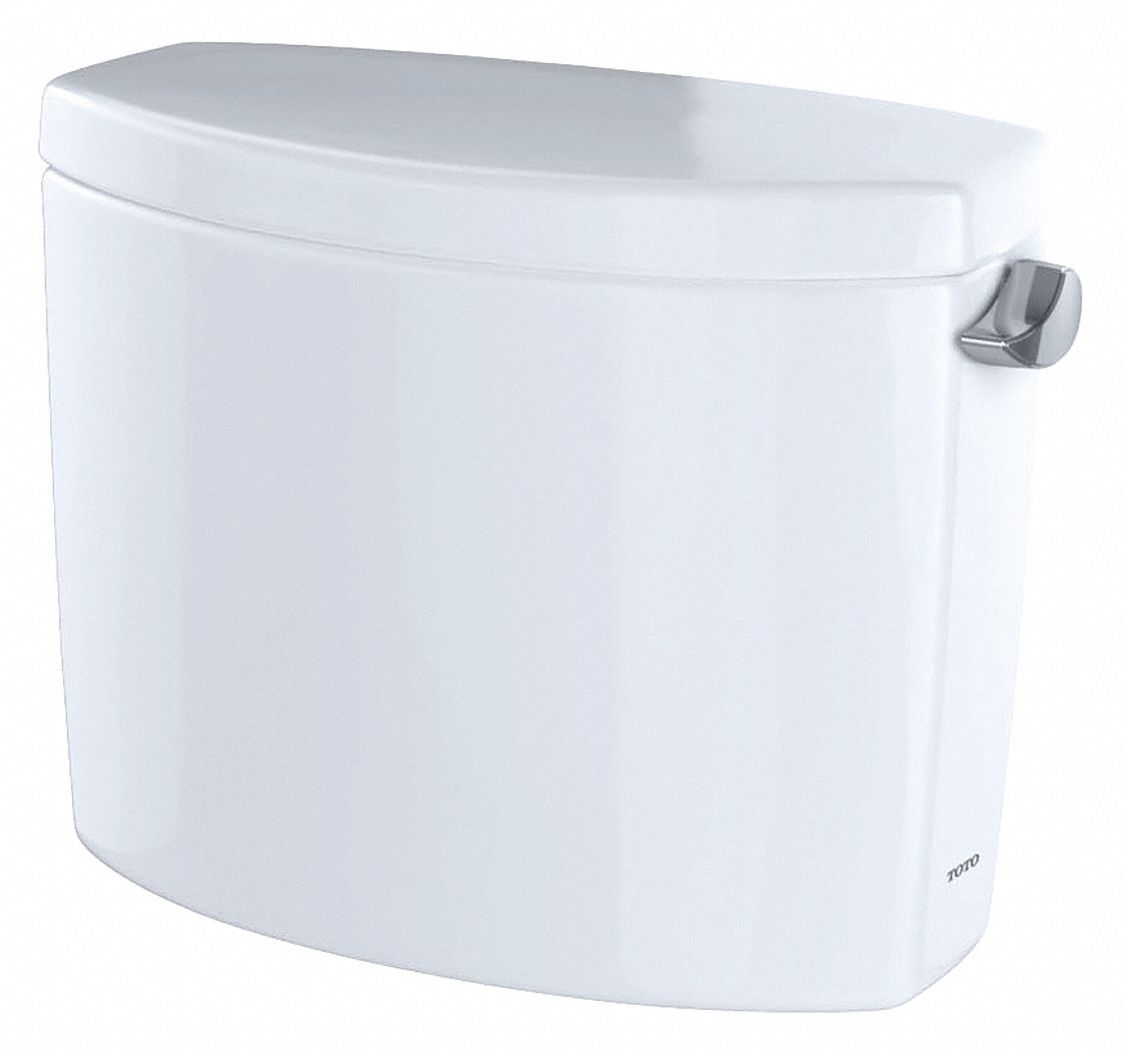 TOTO Drake 1.2 gpf Toilet Tank, Right Hand Trip Lever, White ...