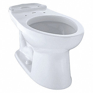 Toilet Bowl, Floor Mounting Style, Elongated, 1.2 Gallons per Flush