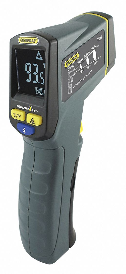 Backlit LCD,  Infrared Thermometer,  Single Dot Laser Sighting - Infrared