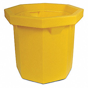 "Drum Storage, Yellow, 33"" L"