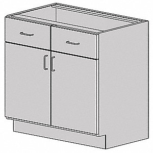 "30"" x 22-1/2"" x 35-1/2"" HDPE Base Cabinet, Light Gray"