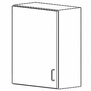 "Wall Cabinet,HDPE,White,18""W"