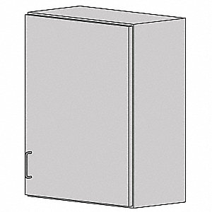 "Wall Cabinet,HDPE,Light Gray,18""W"