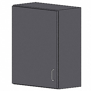"Wall Cabinet,HDPE,Dark Gray,24""W"