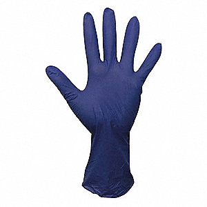 "9-1/2"" Powder Free Unlined Nitrile Disposable Gloves, Corn Blue, Size  XL, 100PK"