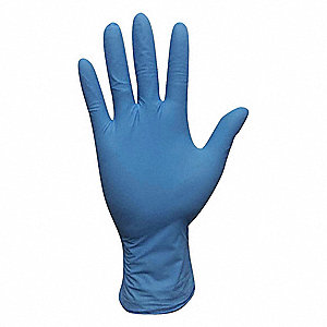 "9-1/2"" Powdered Unlined Nitrile Disposable Gloves, Blue, Size  XL, 100PK"