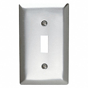 Rocker Wall Plate,Smooth Finish,Silver