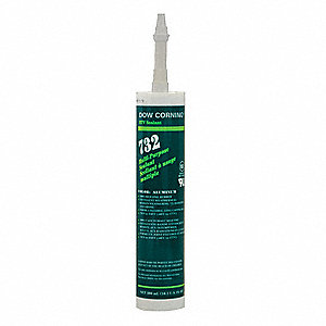 Aluminum Gray Sealant, Silicone, 10.1 oz.
