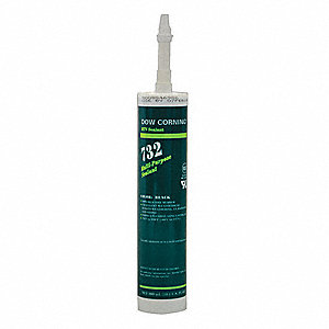 Black Sealant, Silicone, 10.1 oz.