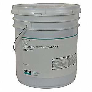 Black Sealant, Silicone, 624.3 oz.