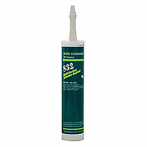 Sealant,Silicone Base,Black,Cartridge