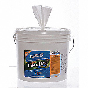 "Fresh Scent Fragrance Lead Removing Wipes, 6"" x 8"", 500 Wipes per Container, 2 PK"