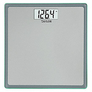 "Digital Bath Scale, 180kg/400 lb. Capacity, 11-7/8"" W x 11-7/8"" D"