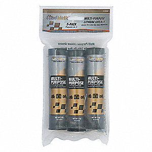 Black Lithium Multipurpose Grease, 3 oz., NLGI Grade: 1.5, Package Quantity 3