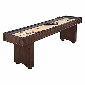 Polyurethane Shuffleboard Table, Medium Density Fiberboard, 8 ft. Playfield Length