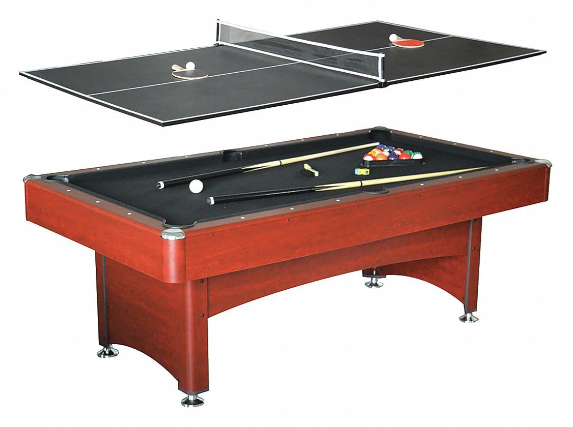 "Pool Table, 7 ft. Size, 31""H, Plastic Drop"