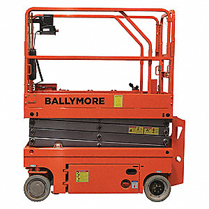 Scissor Lift, Yes Drive, Battery Power Source, 40 ft. Max. Work Height, 700 lb. Load Capacity