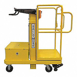 Merchandise Lift,500 lb.,Battery,12 ft.